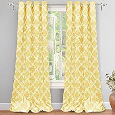 Geometric Pattern Grommet Curtains by Amazon Com Hlc Me Lattice Print Thermal Insulated Blackout