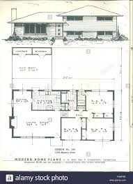 100 Modern Home Blueprints By Plans Published C 1955 Stock Photo