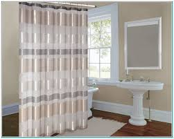 Gold And White Curtains by Gold And White Striped Shower Curtain Torahenfamilia Com White