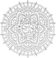 Full Image For Creative Haven Celestial Mandalas Coloring Page Free Printable Adult Online Mandala