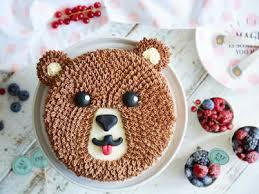 kindergeburtstag mit brummbär torte