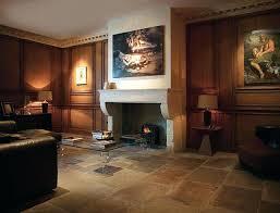 Stone Floors For Living Rooms Genuine Antique Limestone Floor Traditional Room