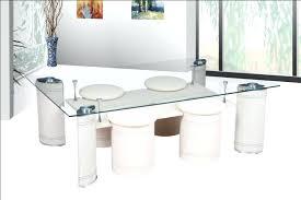 table basse tabouret table basse design avec poufs norma verre et