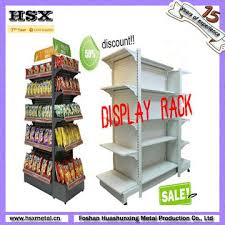 China Retail Store Floor Product Display Stands With Shelf And Hooks