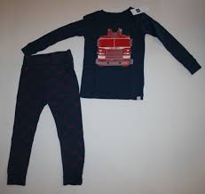 NEW BABY GAP 2 Piece Fire Truck Fire Department PJs Pajamas Size 2 ...
