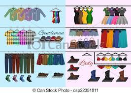 Clothes Shop Concept Vector