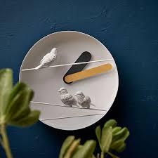funk wanduhr lautlos deko vögel für wohnzimmer kinderzimmer