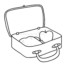 Lunch Box Outline Illustration Stock