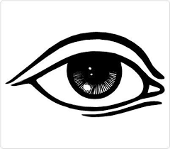 Simple Eye Clipart Black And White ClipartXtras