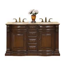 Double Sink Vanity Top 60 by Shop Silkroad Exclusive Samantha American Walnut Undermount Double