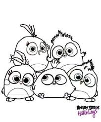 ANGRYBIRDSTIFF 3 Angry Birds Hatchlings Coloring Page By