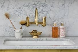 Barber Wilson Unlacquered Brass Faucet by The Unlacquered Brass Kitchen Faucet Fraufleur With Regard To