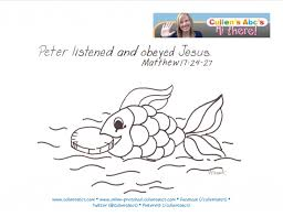 Money In A Fish Bible Memory Verse Coloring Page For Complete Approach To Christian