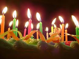 birthday cake candles cake