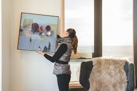 Sara Carefully Hangs Artwork The Secret Life Of Trees By Richard Claremont In Living Little Projects Apartment Next To A TRES Selected Norr11