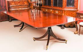 Vintage Twin Pillar Dining Table And 14 Antique Dining ...