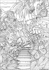 The World Of Butterflies Garden Free Coloring PagesColoring