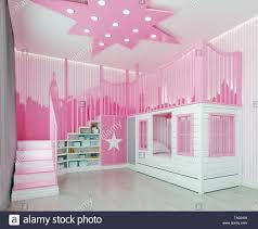 modernes interieur kinder schlafzimmer rosa mädchen zimmer
