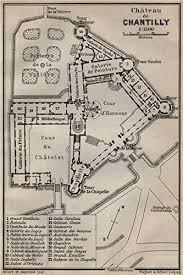 Chateau Floor Plans Château De Chantilly Floor Plan Oise Carte