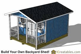 Saltbox Shed Plans 12x16 by 12x16 Shed With Porch Icreatables