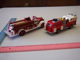 100 Model Fire Trucks Lot Of 2 Toy Trucks 1938 Ford