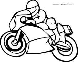 Motorcycle Color Page Transportation Coloring Pages Plate Sheetprintable Picture