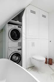 elegantes badezimmer waschmaschine und bild kaufen