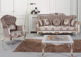 casa padrino luxus barock wohnzimmer set grau mehrfarbig weiß bronze 2 sofas 2 sessel 1 couchtisch wohnzimmer möbel im barockstil edel