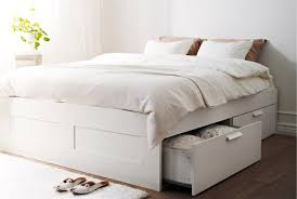 How To Build A King Platform Bed With Drawers by Storage Beds Ikea