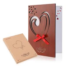 Amazoncom Unomor Love Card Handmade Imitation Wood Greeting Card