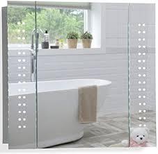 led beleuchteter badezimmer spiegelschrank tageslichtweiß bei 6500k tüv geprüft mit antibeschlag pad ohne sichtbare kabel steckdose