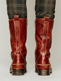 bed stu region laceup boot in brown lyst