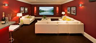 Brown Carpet Living Room Ideas by Living Room Brown Leather Seats On Beige Carpet Connected By Lcd