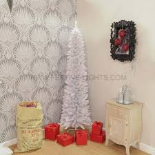 7 Ft White Pre Lit Christmas Tree by Furniture Frosted Pencil Christmas Tree 7 Foot Pencil Christmas