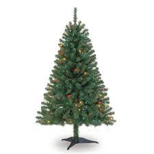 4 Ft Pre Lit Led Christmas Tree by 4 Ft Pre Lit Green Full Hillside Pine Artificial Christmas Tree