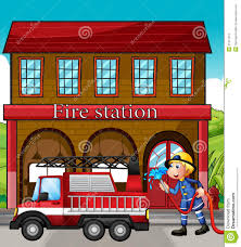 100 Clipart Fire Truck Station