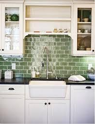 green subway tile backsplash in white kitchen eco friendly 62