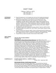 Housekeeping Hospital Resume Sample Of Free