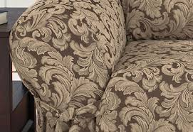 Sure Fit Sofa Slipcovers by Sure Fit Scroll Brown Sofa Slipcover 6060