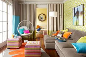 Grey Yellow And Turquoise Living Room by Yellow And Gray Family Room Design Ideas