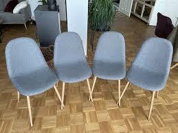 4x stuhl schalenstuhl esszimmer anthrazit grau