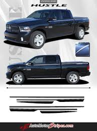 2009-2018 Dodge Ram Hustle Truck Hood Spears Spikes Side Pin Stripe ...