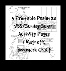 VBS Sunday School Scripture Activity Coloring Pages Printable Magnetic Bookmark Bible Craft Psalm 23 Sheep Farm PDF Download