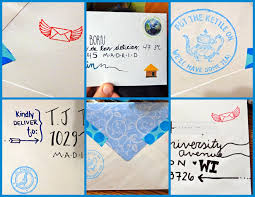 Weekend letter writing envelope decorating session Rebe With a