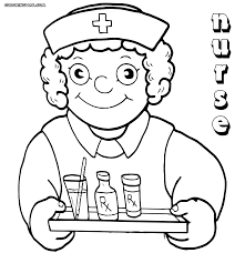 Nurse With Medication Coloring