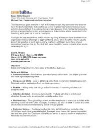 List Of Good Skills To Put On A Resume Examples With Example Basic Computer