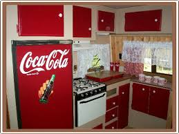 Travel Trailer Renovation Remodeling A Reminds Me Of Our Red And White Kitchen Few Years Back