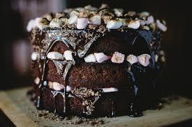 Smores Cake Chocolate Malt Marshmallow Alanabread