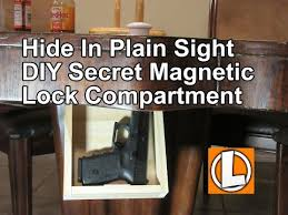 Magnetic Locks For Furniture by Diy Secret Storage Compartment For Guns And Valuables In Plain