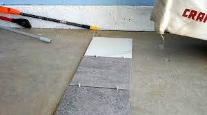 a porcelain tile garage floor installation and review all garage